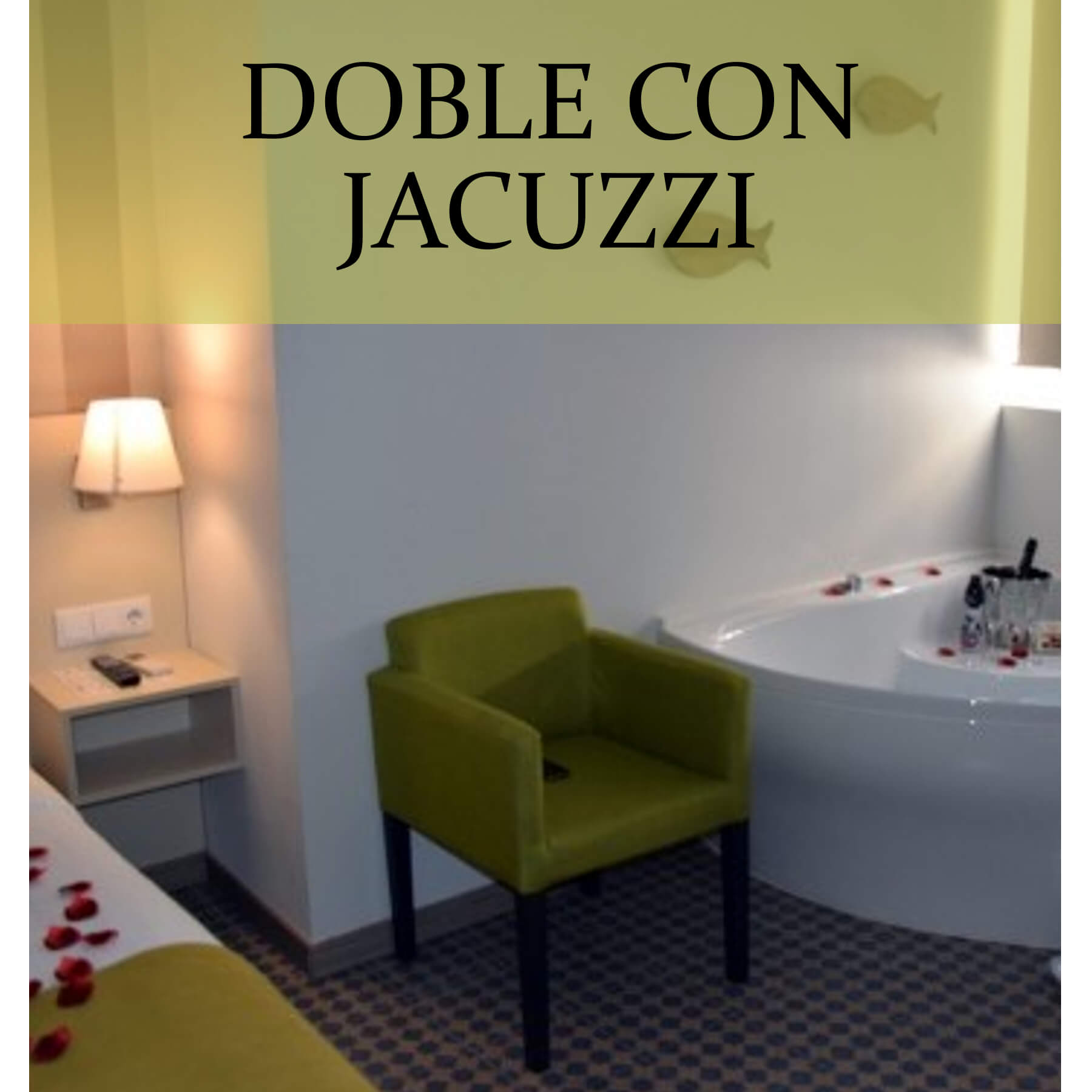 Habitación doble clásica con jacuzzi
