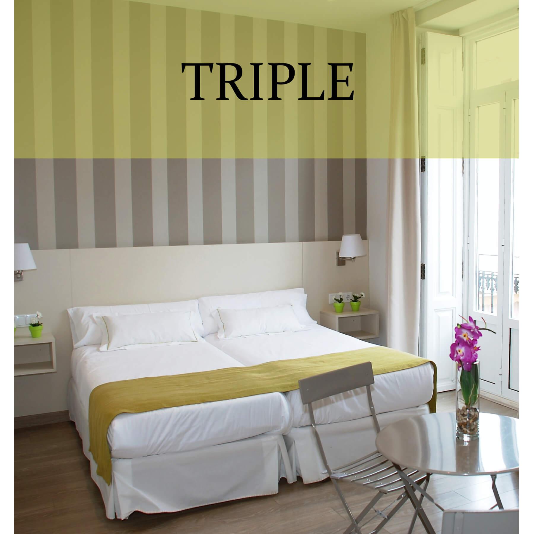 Habitación triple superior